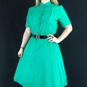 80s Does 50s Shirtwaist Dress